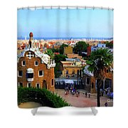 Overlooking Barcelona From Park Guell Shower Curtain