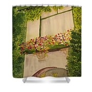 Overlooking Butchard Gardens  Shower Curtain