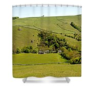 Overlooking Milldale Shower Curtain