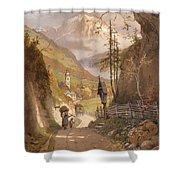 Overlooking Ramsau Bei Berchtesgaden Shower Curtain
