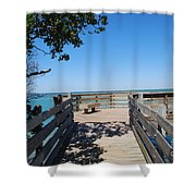 Overlooking Sarasota Bay Shower Curtain