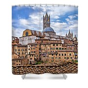 Overlooking Siena And The Duomo Shower Curtain
