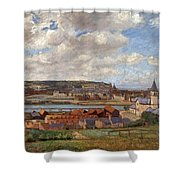 Overlooking The Town Of Dieppe Shower Curtain