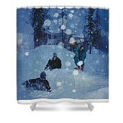 Overnight Snow Shower Curtain