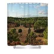 Overview Of Ludo From The Cliffs Shower Curtain