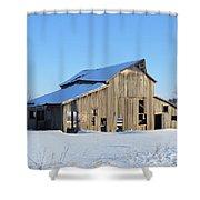 Owasa Barn Shower Curtain