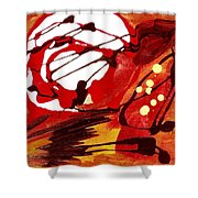 Owl And The Moon Shower Curtain
