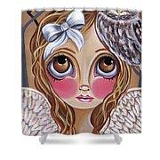 Owl Angel Shower Curtain