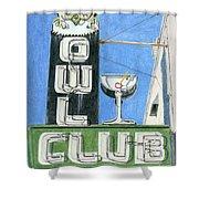 Owl Club Shower Curtain