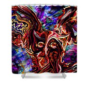 Owl Colors Wild. Shower Curtain