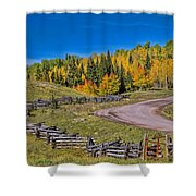 Owl Creek Pass Road Shower Curtain