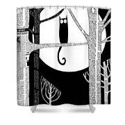 Owl Impression Shower Curtain