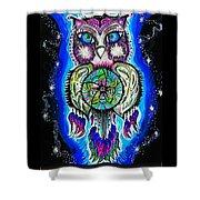 Owl No Uv Shower Curtain
