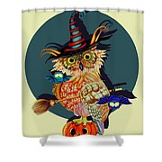 Owl Scary Shower Curtain
