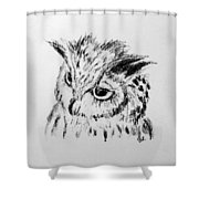 Owl Study Shower Curtain