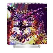 Owl The Female Eagle Owl Bird  Shower Curtain