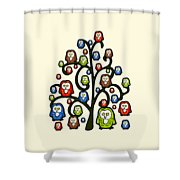 Owl Tree Shower Curtain