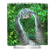 Owll In Flight Shower Curtain