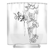 Owls Crows Sipders Shower Curtain
