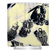 Owls From Blue Yonder Shower Curtain