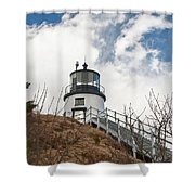 Owl's Head Lighthouse 4761 Shower Curtain