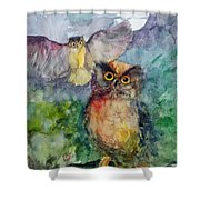 Owls In The Night... Shower Curtain