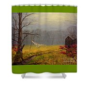Owl's Retreat Tobacco Trail Shower Curtain