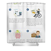 Own Specialty Disability Insurance Physicians Shower Curtain