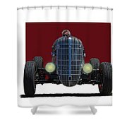 Owner Designed And Built Race Car Shower Curtain