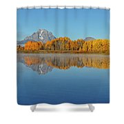 Oxbow Bend First Light  Shower Curtain