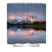 Oxbow Bend Sunrise Shower Curtain
