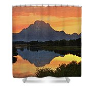 Oxbow Sunset 13 Shower Curtain