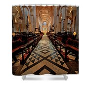 Oxford Cathedral Nave Shower Curtain