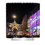 Oxford Street London At Christmas Shower Curtain