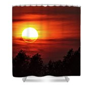 Oxfordshire Sunset Shower Curtain by Jeremy Hayden