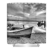 Oyster Boat Ap3392 Shower Curtain