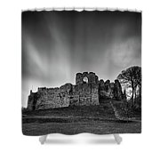 Oystermouth Casle At Mumbles Shower Curtain