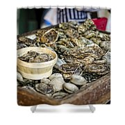 Oysters At The Market Shower Curtain