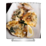 Oysters Rockefeller Shower Curtain