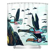 Oz Flying Monkeys  Shower Curtain