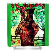 Oz Grumpy Apple Tree Shower Curtain by Jo-Ann Hayden