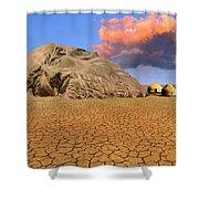 Ozymandias Shower Curtain