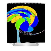 Ozzie The Ostrich Shower Curtain
