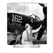 P-38 Ghost Flight Shower Curtain