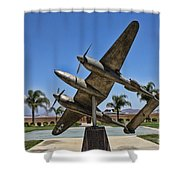 P-38 Memorial March Field Museum Shower Curtain