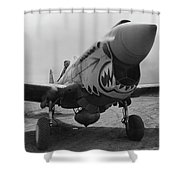 P-40 Warhawk - Flying Tiger Shower Curtain by War Is Hell Store