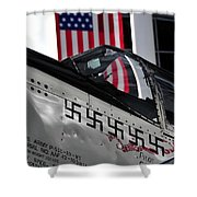 P 51 Mustang Shower Curtain