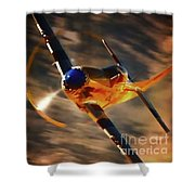 P-51 Mustang 'grim Reaper' And Dan Martin For Clothing Shower Curtain