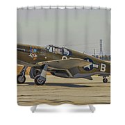 P-51c Mustang Shower Curtain