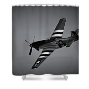 P-51d Quick Silver Shower Curtain